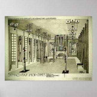 Charles Rennie Mackintosh 1901 Drawing Poster