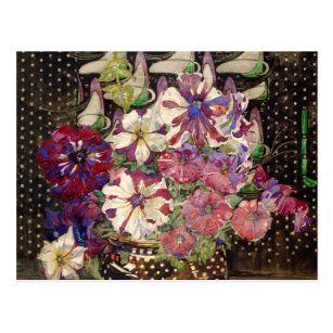 Charles Rennie Mackintosh - Petunias Postcard