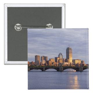 Charles River and The Longfellow Bridge 15 Cm Square Badge