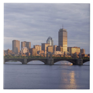 Charles River and The Longfellow Bridge Large Square Tile
