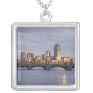 Charles River and The Longfellow Bridge Silver Plated Necklace