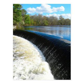 Charles River Falls in South Natick Massacchusetts Postcard