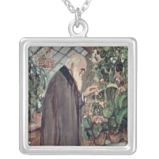 Charles Robert Darwin Silver Plated Necklace