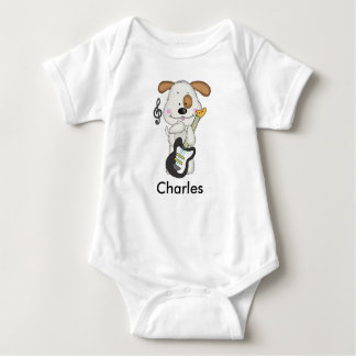 Charles' Rock and Roll Puppy Baby Bodysuit