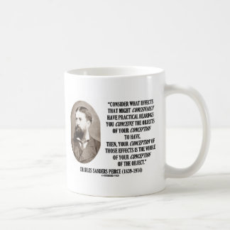 Charles Sanders Peirce Effects Objects Conception Mug