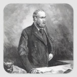 Charles Stewart Parnell Square Stickers