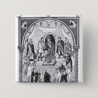 Charles the Bald, King of France 15 Cm Square Badge