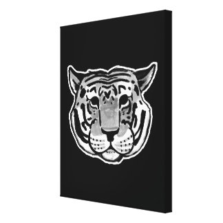 Charles The Tiger | choose your color Stretched Canvas Prints