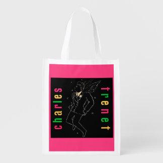 Charles Trenet Reusable Grocery Bag