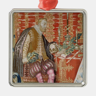 Charles V  from 'The Tapestry of Charles Silver-Colored Square Decoration