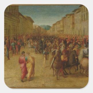 Charles VIII (1470-98) entering Florence, c.1518 ( Square Sticker