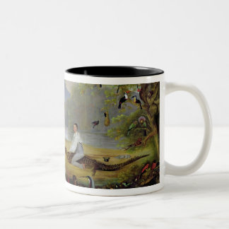 Charles Waterton capturing a cayman, 1825-26 Two-Tone Coffee Mug