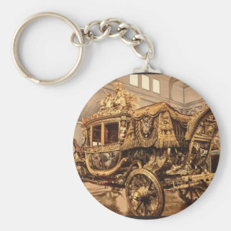 Charles X, carriage, Versailles, France Basic Round Button Key Ring