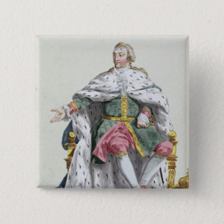 Charles XII (1682-1718) King of Sweden from 'Receu 15 Cm Square Badge