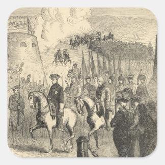 Charles XII of Sweden entering Copenhagen Square Sticker