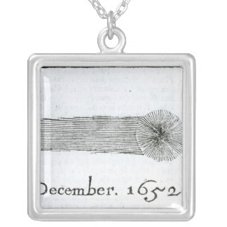 Charles's Comet, December 1652 Silver Plated Necklace