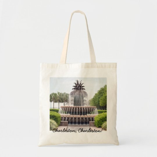 Charleston, Charleston! Pineapple Water Fountain Tote Bag