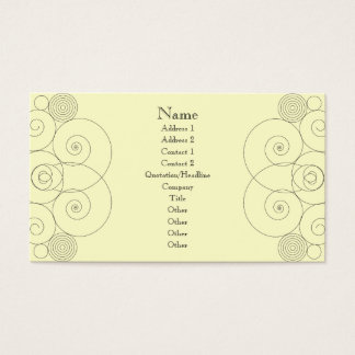 Charleston - Cream Business Card