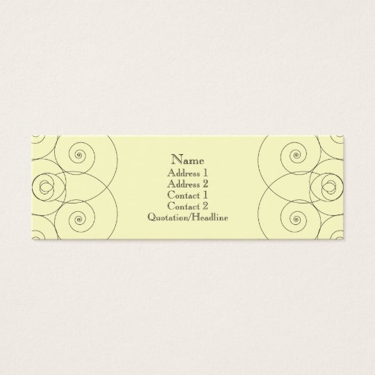 Charleston - Cream Mini Business Card