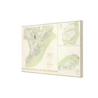 Charleston defenses, Belmont battlefield Canvas Print