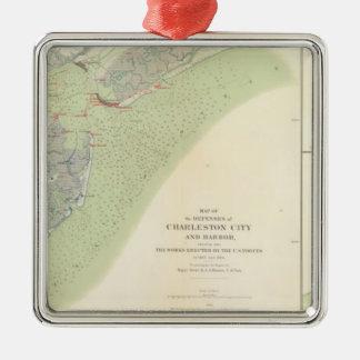 Charleston defenses, Belmont battlefield Christmas Ornament