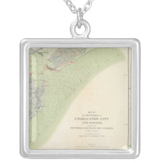 Charleston defenses, Belmont battlefield Silver Plated Necklace