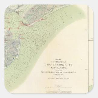 Charleston defenses, Belmont battlefield Square Sticker