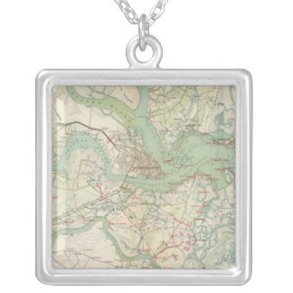 Charleston, defenses silver plated necklace