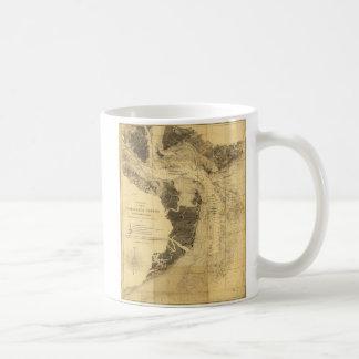 Charleston Harbor Civil War Map Sept. 7, 1863 Coffee Mugs