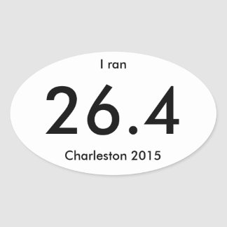 Charleston Marathon and Half Marathon 2015 Oval Sticker