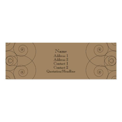 Charleston - Milk Chocolate Business Cards
