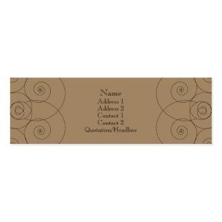 Charleston - Milk Chocolate Pack Of Skinny Business Cards