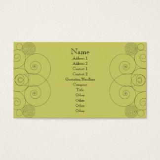 Charleston - Muted Yellow Green Business Card