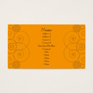 Charleston - Orange Business Card