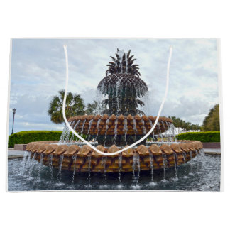 Charleston Pineapple Fountain, South Carolina Large Gift Bag