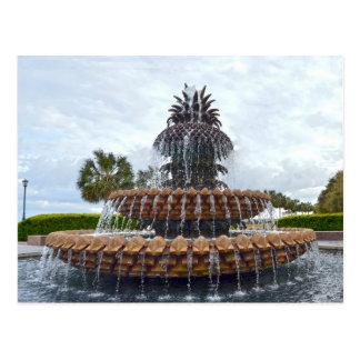 Charleston Pineapple Fountain, South Carolina Postcard