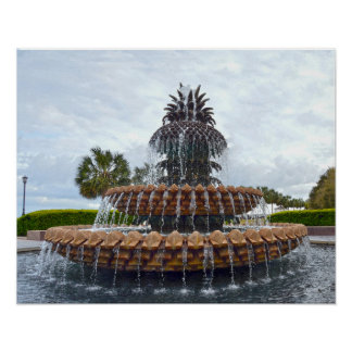 Charleston Pineapple Fountain, South Carolina Poster
