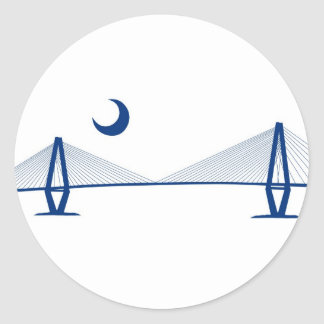 Charleston Ravenel Bridge Classic Round Sticker