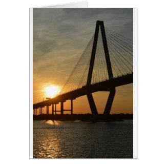 Charleston Ravenel Bridge Sunset Card