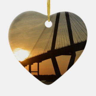 Charleston Ravenel Bridge Sunset Christmas Ornament