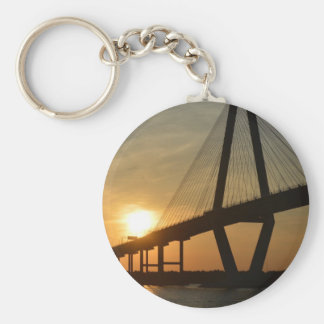 Charleston Ravenel Bridge Sunset Key Ring