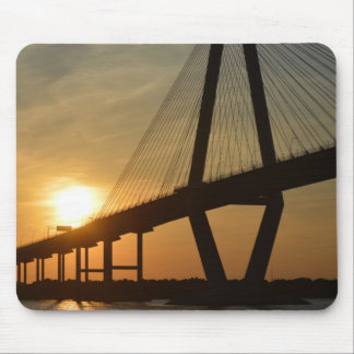 Charleston Ravenel Bridge Sunset Mouse Mat