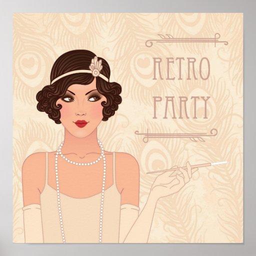 Charleston Retro Party Poster