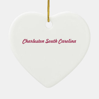 Charleston SC Heart Ornament