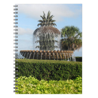 Charleston SC Pineapple Fountain Notebook