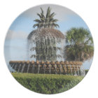 Charleston SC Pineapple Fountain Plate