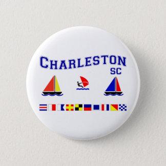 Charleston SC Signal Flags 6 Cm Round Badge