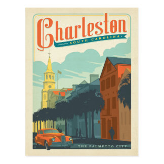 Charleston, SC - The Palmetto City Postcard