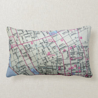 CHARLESTON, SC Vintage Map Lumbar Cushion