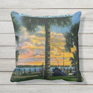 Charleston, South Carolina, Battery Park, Vintage Cushion